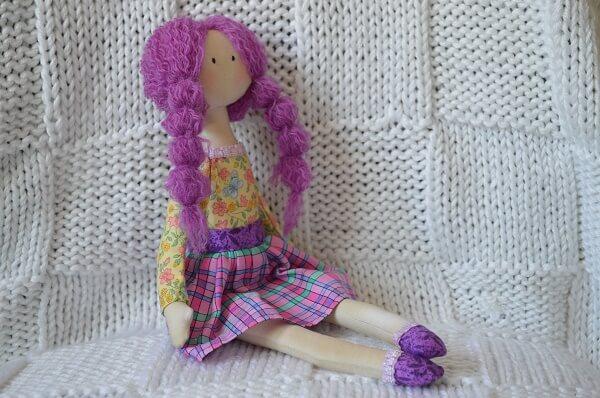 изготовление текстильной куклы